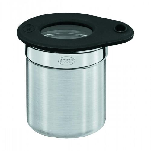Rösle Edelstahl-Dose 6,5 cm / 0,1 L mit Frischhaltedeckel aus Glas