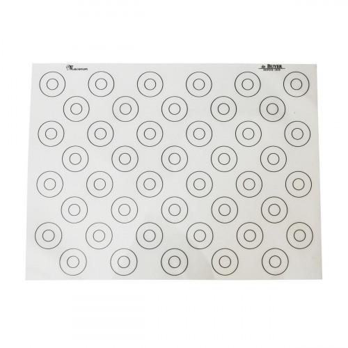 de Buyer Patisserie Backmatte 60x40 cm mit 88 runden Markierungen / Silikon mit Antihaft-Eigenschaften