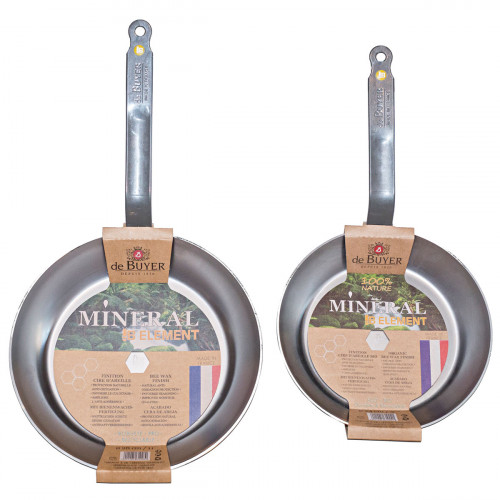 de Buyer Mineral B Element Bratpfannen Set 2-tlg. 28 cm und 24 cm