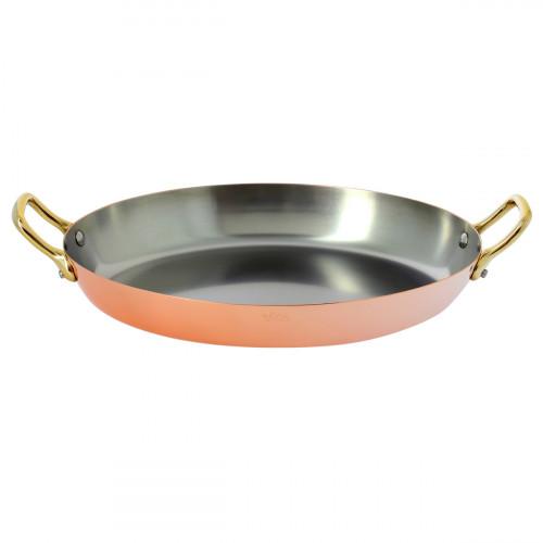 de Buyer Inocuivre VIP Pfanne oval 32 cm / Kupfer / Edelstahl mit Messinggriff