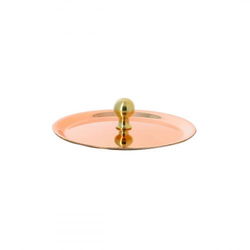 de Buyer Inocuivre VIP Deckel 9 cm / Kupfer mit rundem Messinggriff