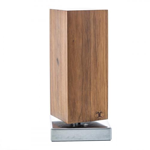 Blockwerk Monolith Messerblock magnetisch aus Nussbaumholz mit Edelstahl-Sockel / für 4 Messer