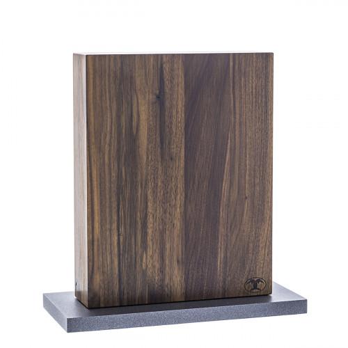Blockwerk 8er Messerblock Nussbaum & grau beschichteter Stahl