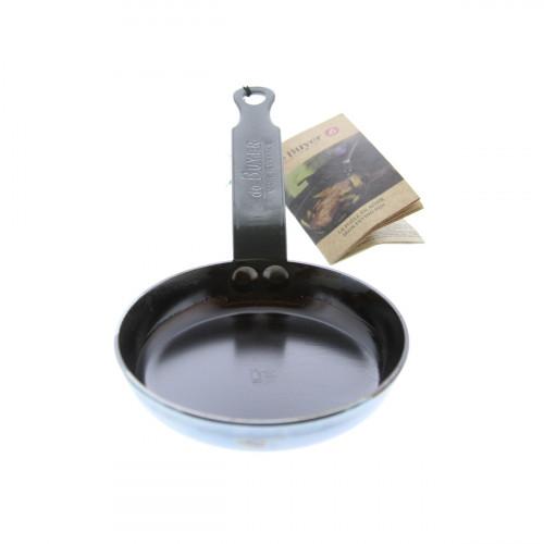 de Buyer Mineral B Element Blinis-Pfanne 12 cm eingebrannt / Eisen mit Bandstahlgriff