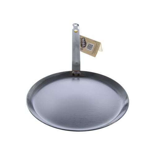 de Buyer Mineral B Crepes-Pfanne 26 cm eingebrannt - Eisen mit Bandstahlgriff