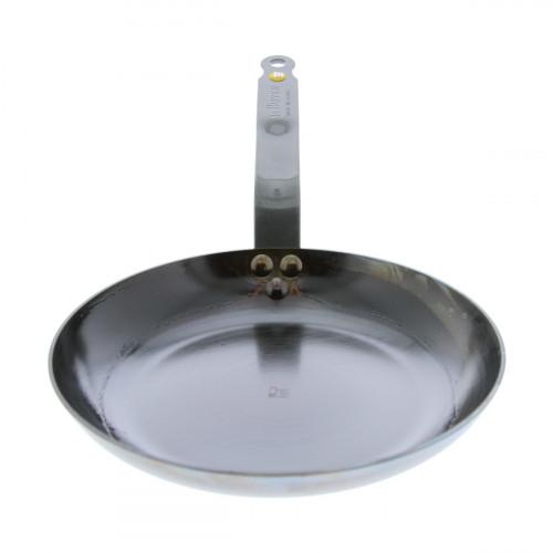 de Buyer Mineral B Omelettepfanne 24 cm eingebrannt - Eisen mit Bandstahlgriff
