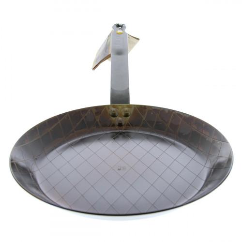 de Buyer Mineral B Element Steakpfanne 28 cm eingebrannt / Eisen mit Bandstahlgriff