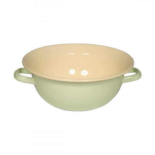 Riess Classic Bunt Pastell Weitling 26 cm / 3,5 l nilgrün - Emaille