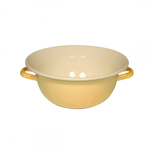 Riess Classic Bunt Pastell Weitling 28 cm / 4,0 l goldgelb - Emaille