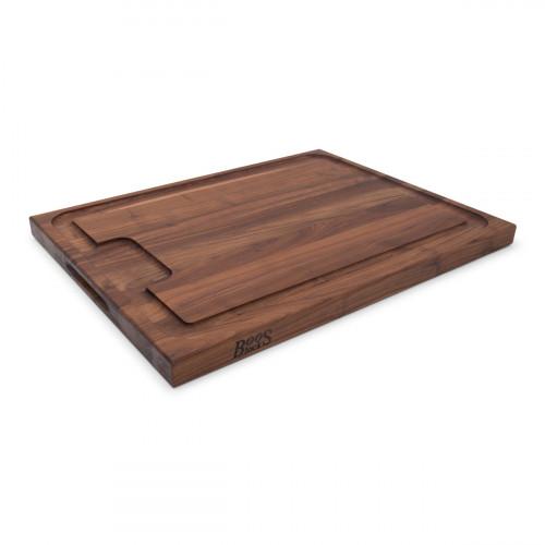 Boos Blocks Black Walnut Schneidebrett 61x46x4 cm aus Walnussholz mit Saftrille