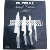 Global G-251138 / M30 Messer-Set 5-teilig inklusive Magnetleiste