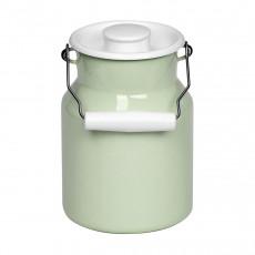 Riess Classic Bunt Pastell Milchkanne 2,0 L nilgrün - Emaille mit Deckel