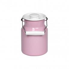 Riess Classic Bunt Pastell Milchkanne 1,0 L rosa - Emaille mit Deckel
