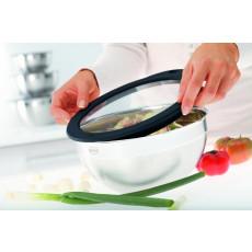 Rösle Frischhaltedeckel aus Glas 24 cm mit Silikonrand