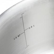 de Buyer Alchimy Bratentopf 16 cm / 1,5 L - Edelstahl-Mehrschichtmaterial
