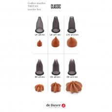 de Buyer Le Tube Tüllen Set Classic 6-teilig - Tritan