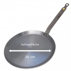 de Buyer Mineral B Crepes-Pfanne 30 cm - Eisen mit Bienenwachsbeschichtung - Bandstahlgriff