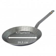 de Buyer Mineral B Element Steakpfanne 28 cm aus Eisen mit Bienenwachsbeschichtung und Bandstahlgriff
