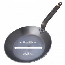de Buyer Mineral B Pfanne 26 cm - Eisen mit Bienenwachsbeschichtung - Bandstahlgriff