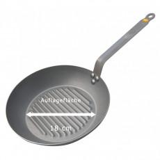 de Buyer Mineral B Grillpfanne 26 cm - Eisen mit Bienenwachsbeschichtung - Bandstahlgriff