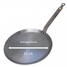 de Buyer Mineral B Crepes-Pfanne 26 cm - Eisen mit Bienenwachsbeschichtung - Bandstahlgriff
