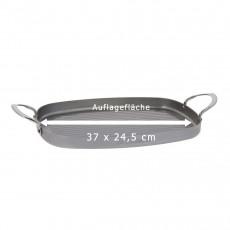 de Buyer Mineral B Grillpfanne 38x26 cm - Eisen mit Bienenwachsbeschichtung