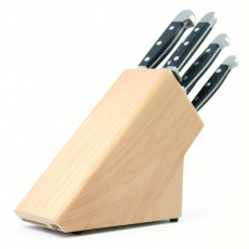 Güde Messerblock für 6 Messer aus naturfarbenem Buchenholz - unbestückt