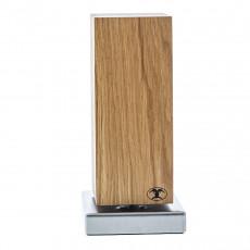 Blockwerk Monolith Messerblock magnetisch Eichenholz mit Edelstahl-Sockel / für 4 Messer