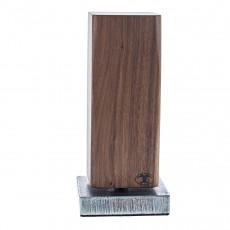 Blockwerk Monolith Strandgut Messerblock magnetisch aus Nussbaumholz mit behandeltem Stahl-Sockel / für 4 Messer