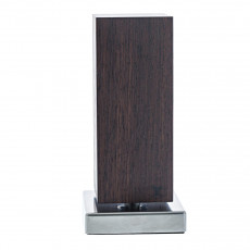 Blockwerk Monolith Messerblock magnetisch Räuchereiche mit Edelstahl-Sockel / für 4 Messer