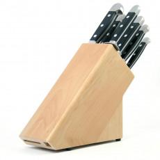 Güde Messerblock für 8 Messer aus naturfarbenem Buchenholz - unbestückt