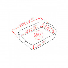 Peugeot Appolia Auflaufform rechteckig 40 cm ecru - Keramik