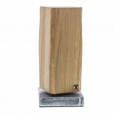 Blockwerk Monolith Strandgut Messerblock magnetisch aus Eichenholz mit behandeltem Stahl-Sockel / für 4 Messer