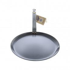 de Buyer Mineral B Crepes-Pfanne 30 cm eingebrannt - Eisen mit Bandstahlgriff