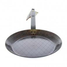 de Buyer Mineral B Element Steakpfanne 24 cm eingebrannt / Eisen mit Bandstahlgriff