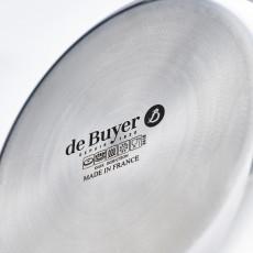 de Buyer Affinity niederer Bratentopf konisch mit Deckel 28 cm / 4,9 Ltr / Edelstahl mit Aluminiumkern