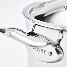 de Buyer Affinity niederer Bratentopf 28 cm / 4,6 Ltr / Edelstahl mit Aluminiumkern