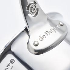 de Buyer Affinity Stielkasserolle 14 cm / 1,2 Ltr / Edelstahl mit Aluminiumkern