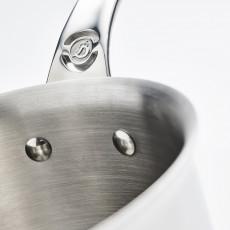 de Buyer Affinity Stielkasserolle 18 cm / 2,5 Ltr / Edelstahl mit Aluminiumkern