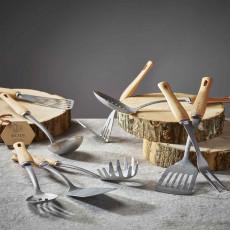 de Buyer B Bois Kartoffelstampfer aus Edelstahl mit Holzgriff