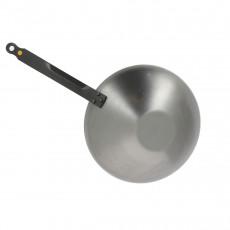 de Buyer Mineral B Wok 28 cm - Eisen mit Bienenwachsbeschichtung - Bandstahlgriff