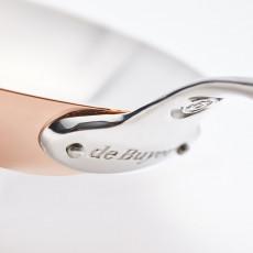 de Buyer Prima Matera Pfanne 24 cm - Kupfer induktionsgeeignet - Edelstahlgussgriff