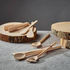 de Buyer B Bois Spatel 30 cm mit runder Kante / aus Buchenholz mit Bienenwachsfinish