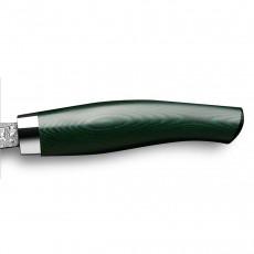 Nesmuk Exklusiv C150 Damast Officemesser 9 cm - Griff Micarta grün