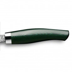 Nesmuk Exklusiv C100 Damast Officemesser 9 cm - Griff Micarta grün
