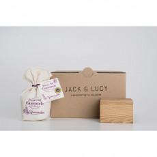 Jack & Lucy Geschenkset Salz- und Gewürzdose mit Fleur de Sel - Eichenholz mit Glaseinsatz