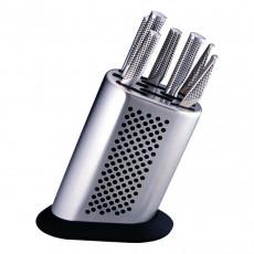 Global G-888D Messerblock für 8 Messer - Edelstahl - unbestückt