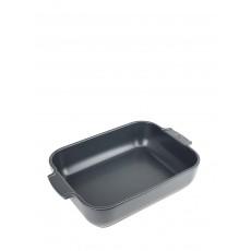 Peugeot Appolia Auflaufform rechteckig 32 cm schiefergrau - Keramik