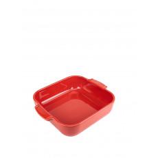 Peugeot Appolia Auflaufform quadratisch 28 cm rot - Keramik