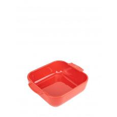 Peugeot Appolia Auflaufform quadratisch 21 cm rot - Keramik